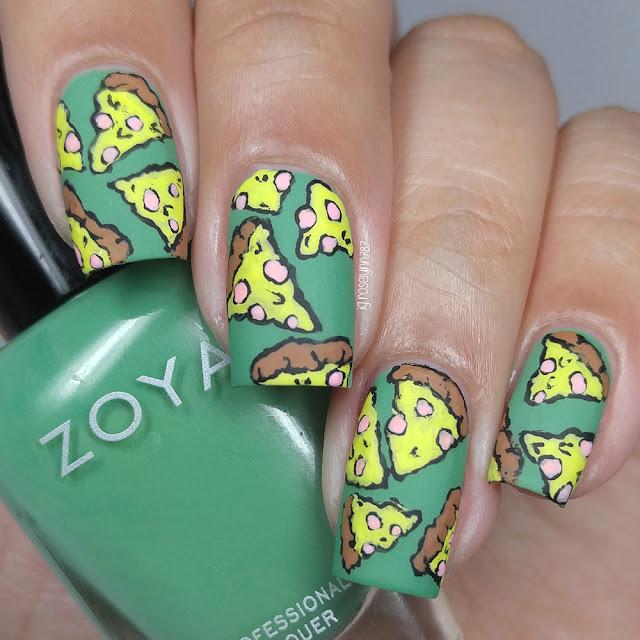 Pizza Slice Nail Art