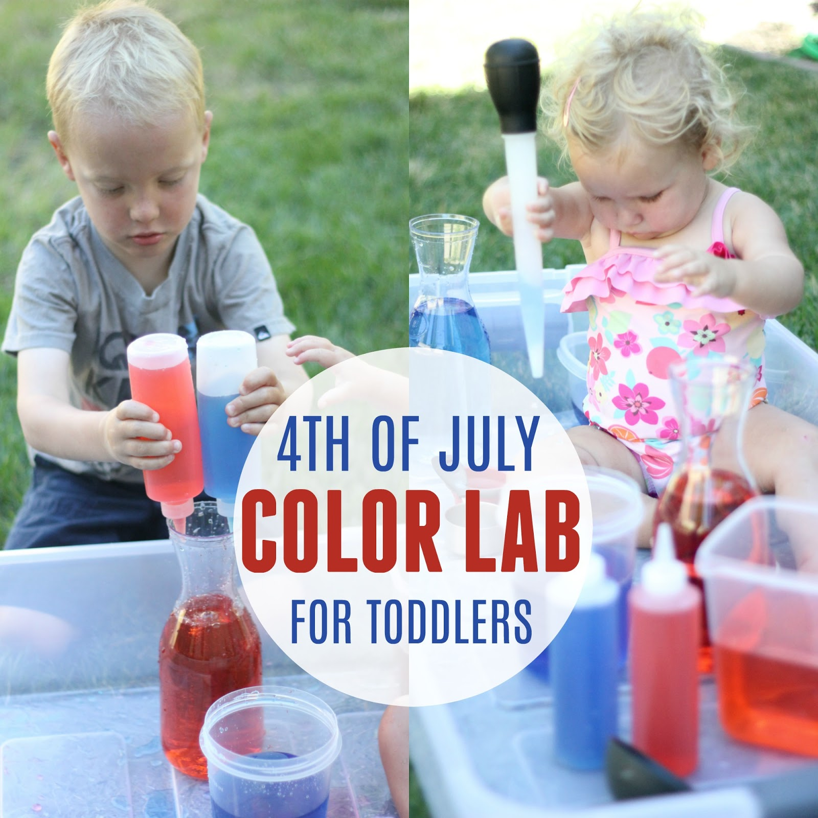 Toddler Approved 4th Of July Color Lab For Toddlers