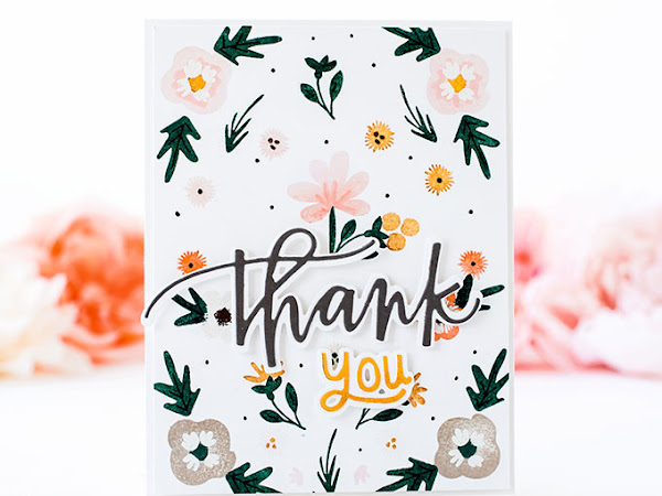 Floral Thank You Notecard - The Stamp Market