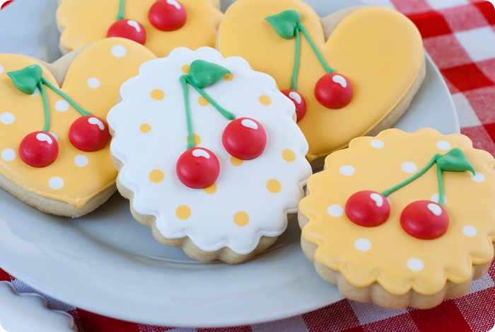 cherry decorated cookies