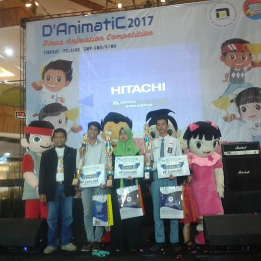 Tim Multimedia SMKN 1 Purwodadi Juara 3  D'AnimatiC 2017