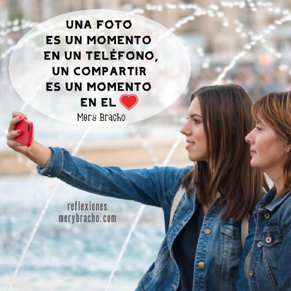 imagen de reflexiones compartir en familia con hija hijo olvidarse de tomar fotos