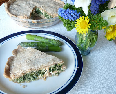 Salmon or Trout & Spinach Pie