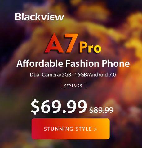 Blackview A7 Pro 4G Smartphone  -  BLACK -price