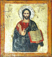 Iisus invatator, icoana pe lemn