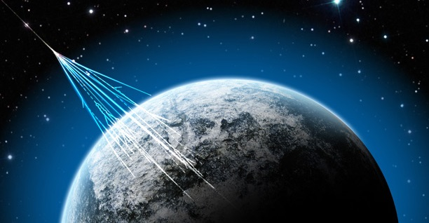 Little is known about the ultra high-energy cosmic rays that regularly penetrate the atmosphere. Credit: NSF/J. Yang