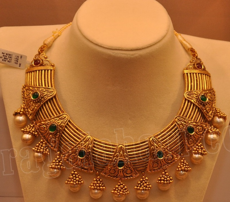 Antique Choker By Malabar Gold And Diamonds Jewellery