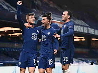 Chelsea football club wins the 2020-2021 champions League title against man Manchester City