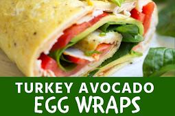 #Turkey #Avocado #Egg #Wraps