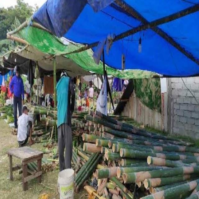 Pedagang Bambu Musiman Hadir Banjiri Sudut Kota Palu
