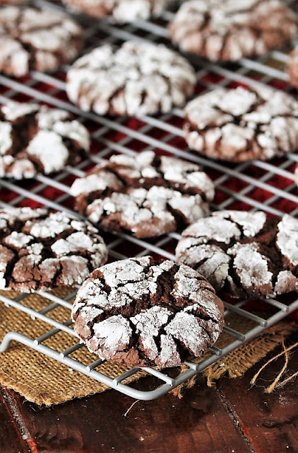 Devils Food Chocolate Crinkle Cake Mix Cookies Image