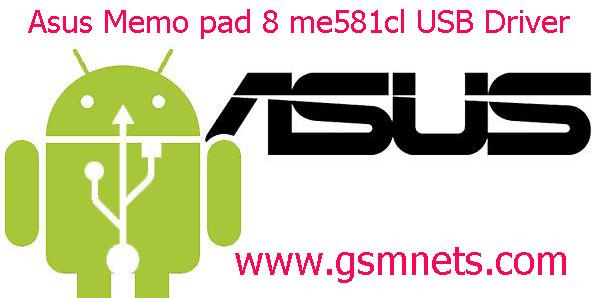 Asus Memo pad 8 me581cl USB Driver