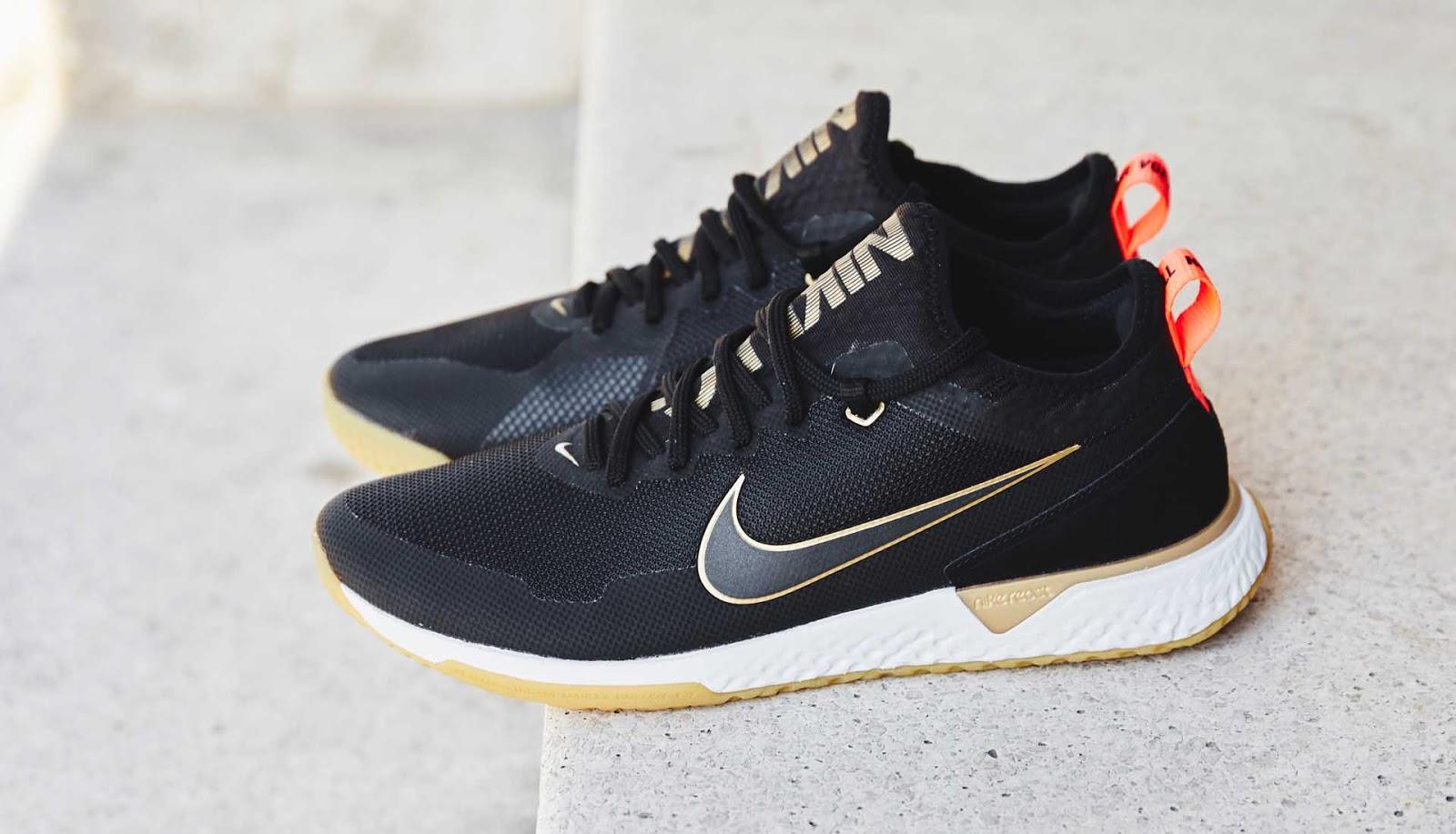 d3bc02e178f Black   Metallic Gold Nike F.C. React Football Shoes Released ...