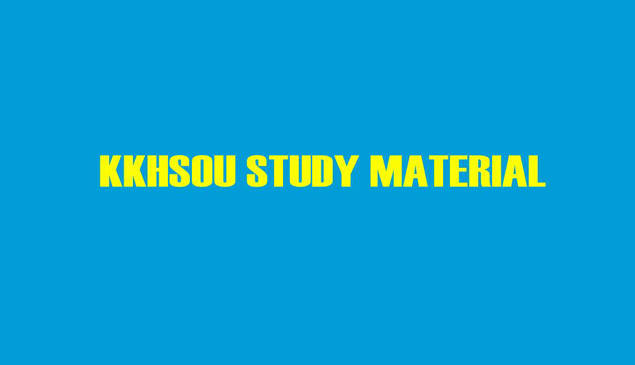 KKHSOU DELED Study Material for 1st Year