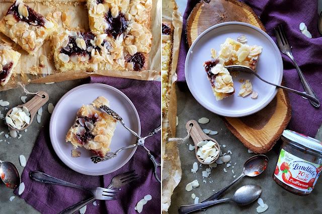 Butterkuchen mit Marmelade