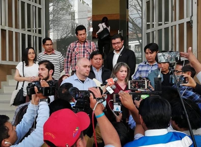 Los diputados del sur presentaron el recursos constitucional el pasado 29 de agosto en Sucre / RRSS
