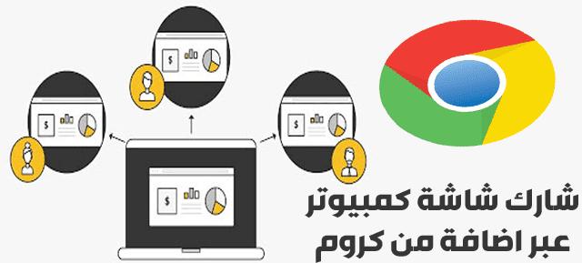 مشاركة شاشة الكمبيوتر مع أي شخص على الإنترنت بدون اي برنامج