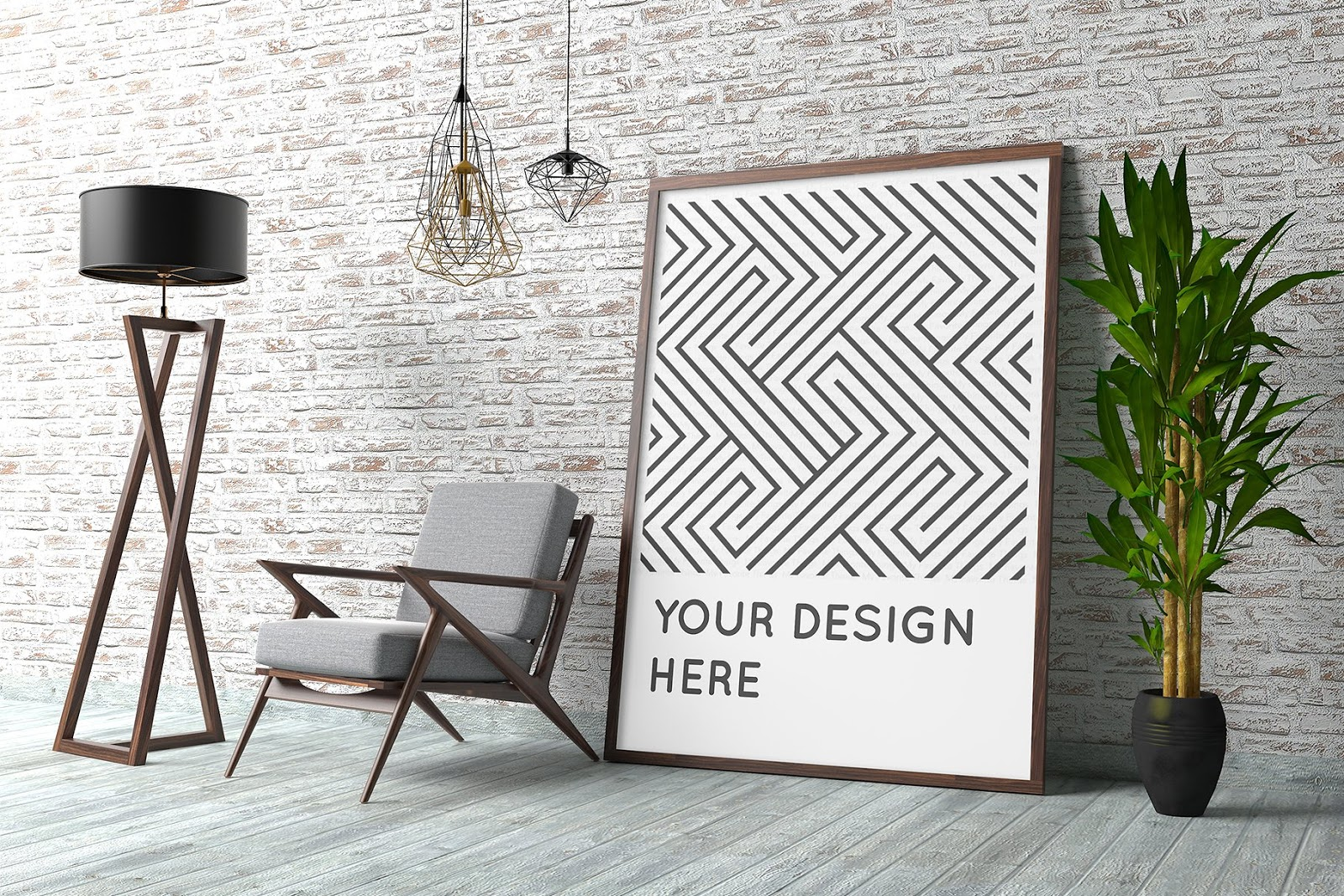 Contemporary Interior Poster Mockup