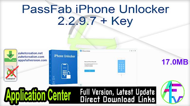 PassFab iPhone Unlocker 2.2.9.7 + Key