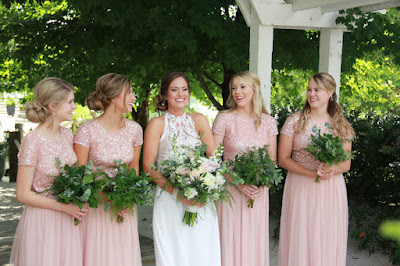 Whitney Bates and bridesmaids vow renewal