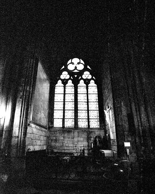 A dark church in Paris