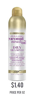 OGX Extra Strength Refresh Restore + Dry Shampoo, Coconut Miracle Oil