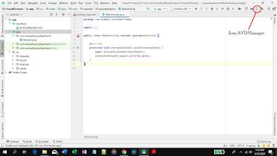 cara membuat emulator di android studio