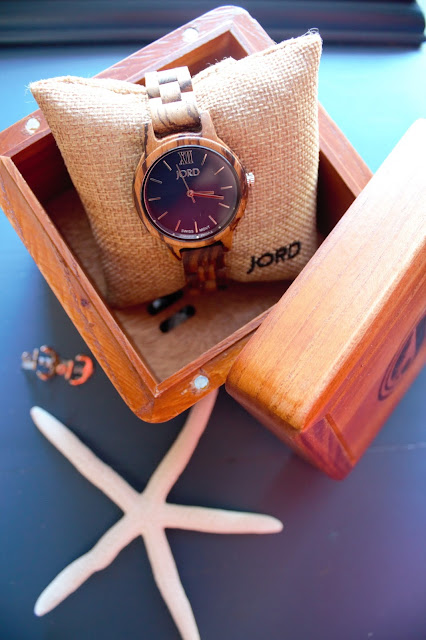 JORD Wooden Watches -- Frankie in Zebrawood & Navy