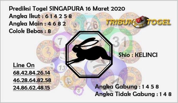 Prediksi Togel Singapore Senin 16 Maret 2020 - Prediksi Tribun Togel