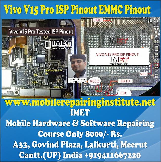 Vivo V15 Pro ISP Pinout EMMC Pinout – Dead Boot Repair FRP Remove