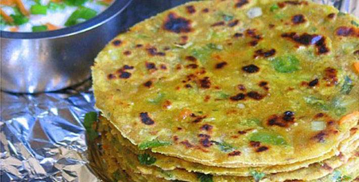 चीझ व भाजीचा पराठा - पाककला | Cheese And Vegetable Paratha - Recipe