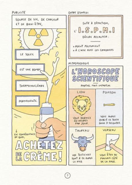 page de Bonjour la science de Placide Babilon paru chez Delcourt