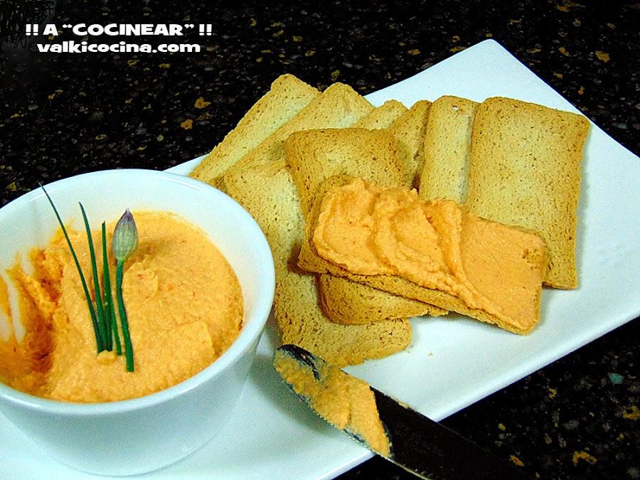 Paté de cangrejo y merluza con queso crema
