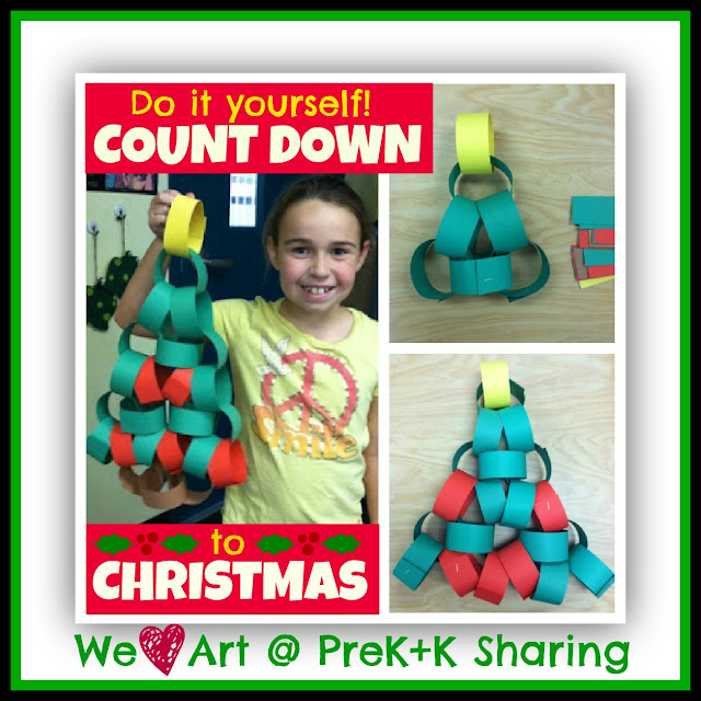 Countdown to Christmas (Advent Calendar) by We Heart Art at Prek+K Sharing