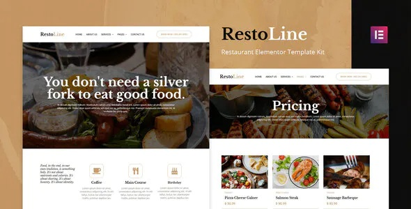 Best Restaurant Elementor Template Kit