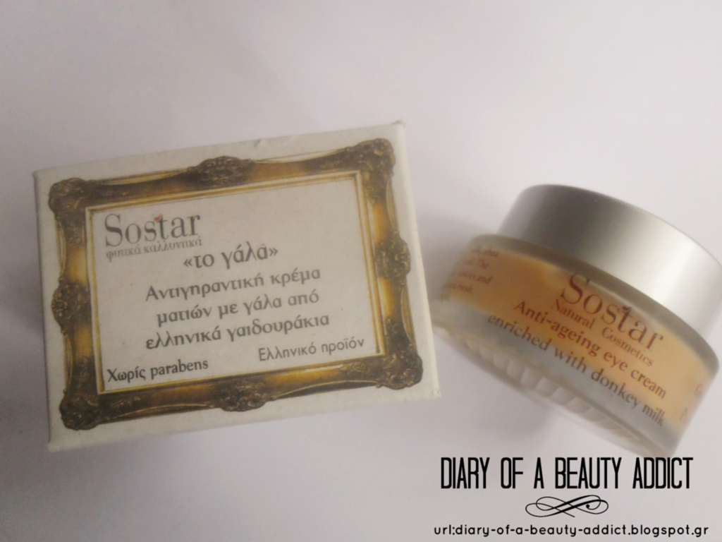 Sostar Anti-Ageing Eye Cream with Donkey Milk : Review