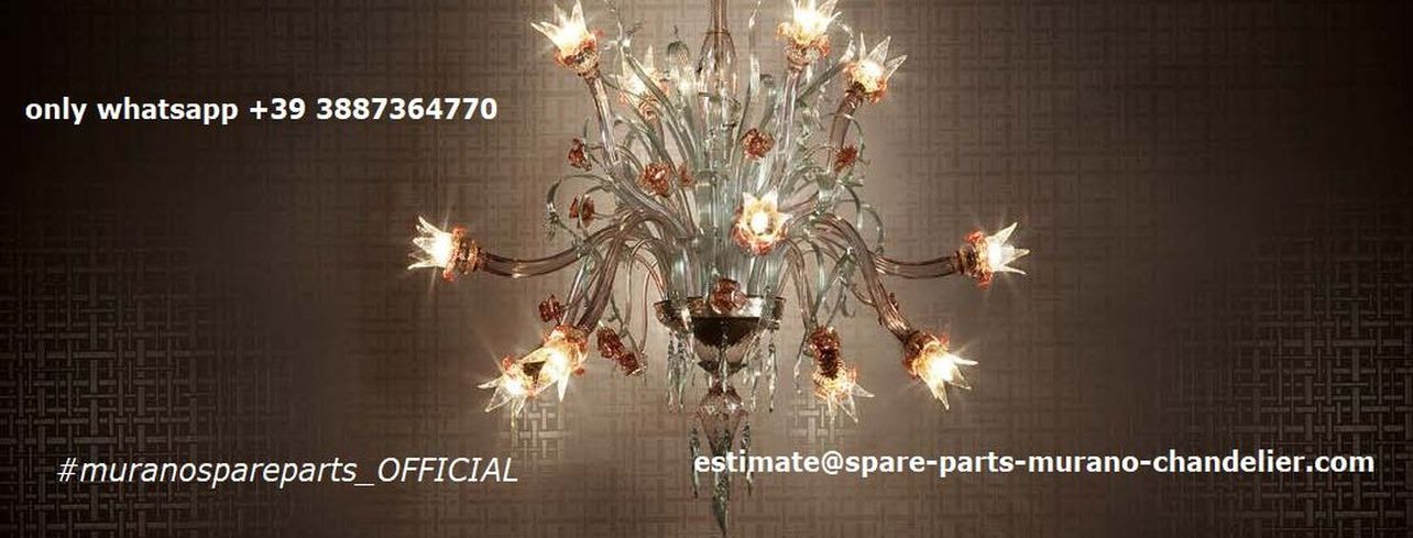 Murano chandeliers and Venetians mirrors: the Spare parts