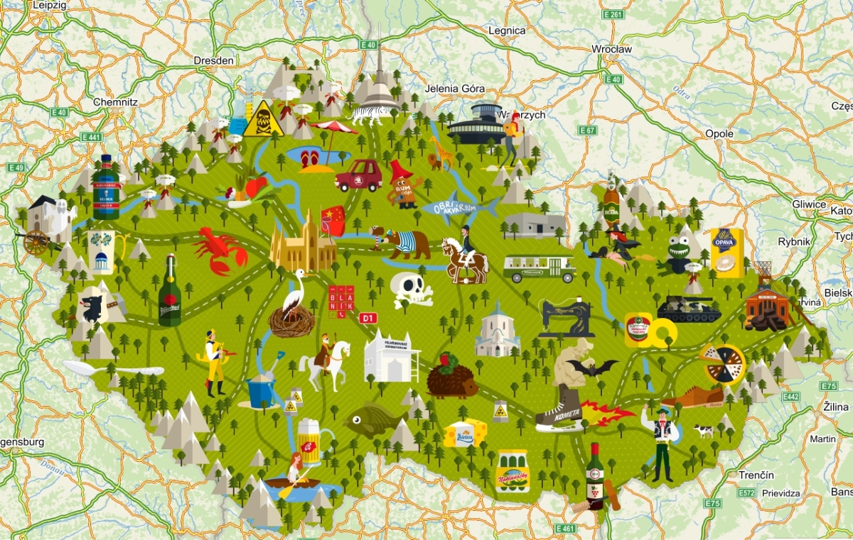 prága térkép Csehország, nem csak Prága!: Csehország térképen – egy kicsit  prága térkép
