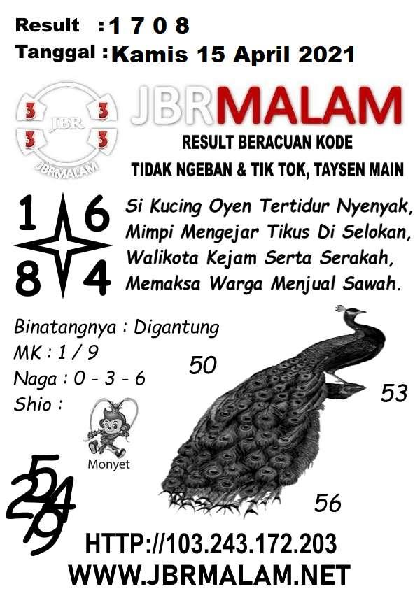 JBR Malam HK Kamis 15 April 2021