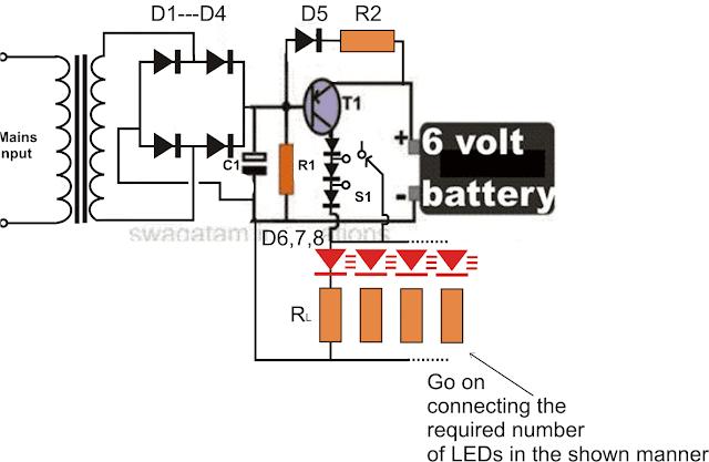 customized 100 to 150 LED emergency lamp circuit