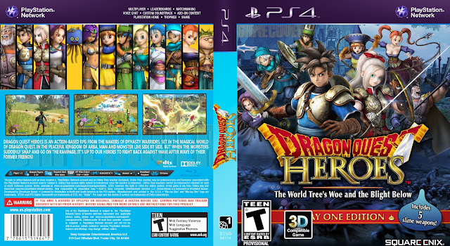 Capa Dragon Quest Heroes PS4 [Exclusiva]