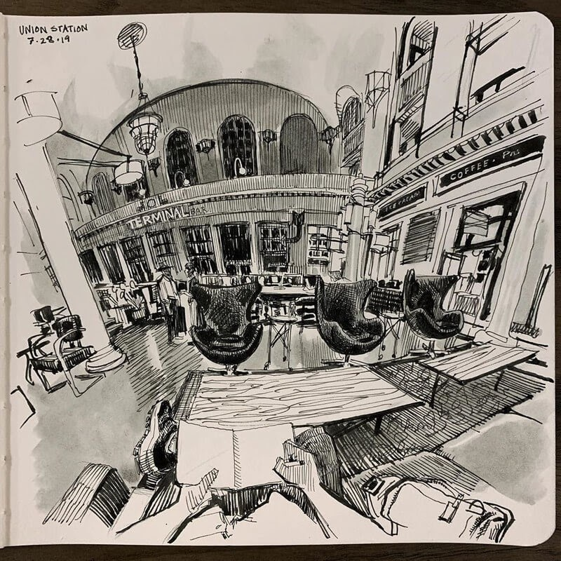 05-Paul-Heaston-Moleskine-Urban-Drawings-with-a-Point-of-View-www-designstack-co
