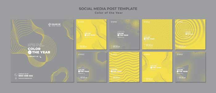 Social Media Post PSD Template