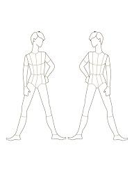 figure templates croqui template male drawing sketches front child croquis theatre figures studio comparison visit