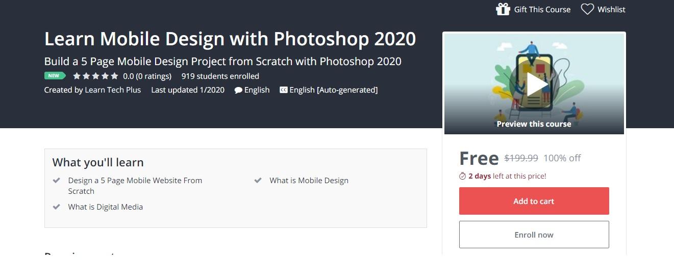 سارع في الإستفادة من كورسات لإحتراف الفوتوشوب 2020 بشكل مجاني لفترة محدودة !