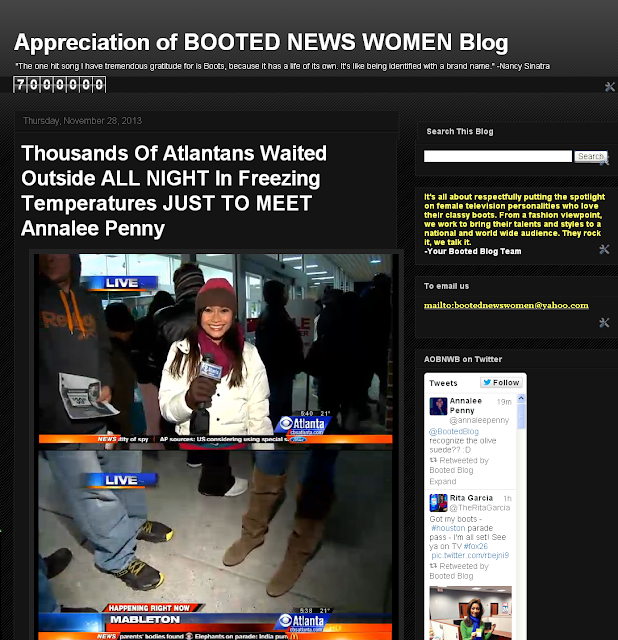 THE APPRECIATION OF BOOTED NEWS WOMEN BLOG : Nov 28, 2013