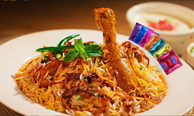chicken biryani with condam