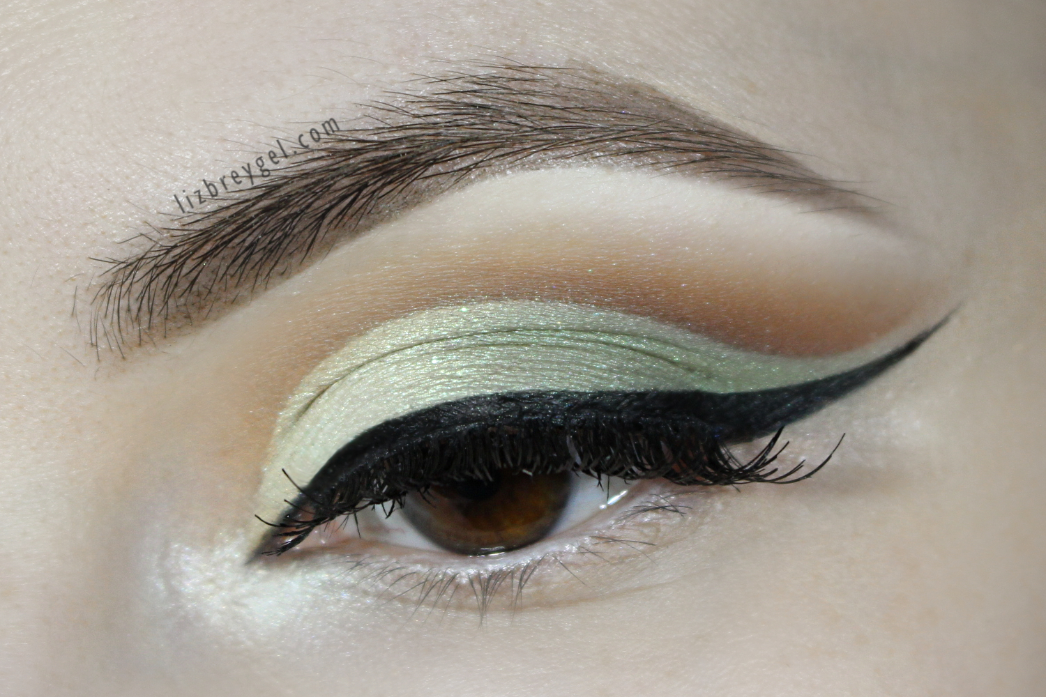 sage green bridal makeup look