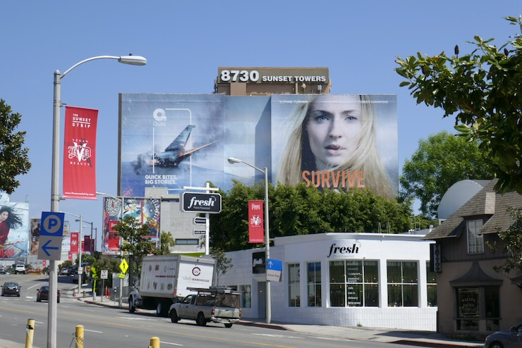 Giant Survive series launch billboard Sunset Strip