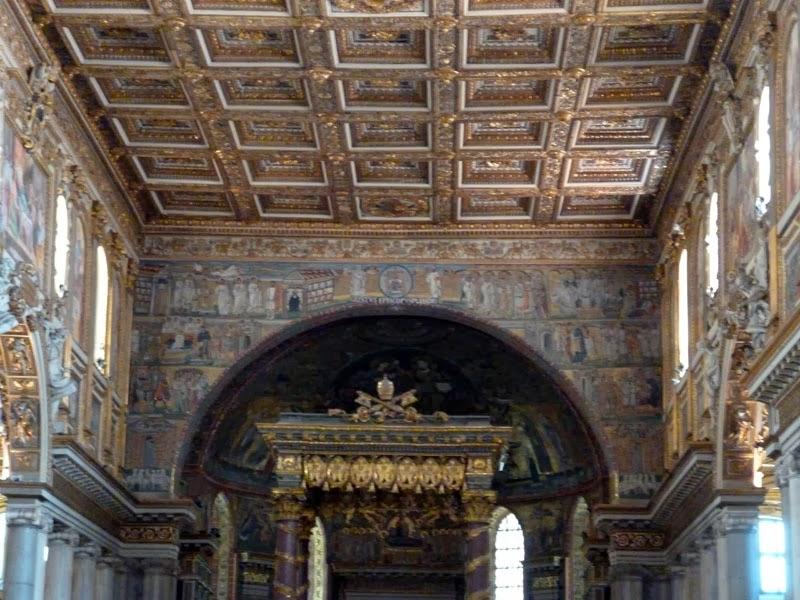 Arco triunfal da Basílica de Santa Maria Maior